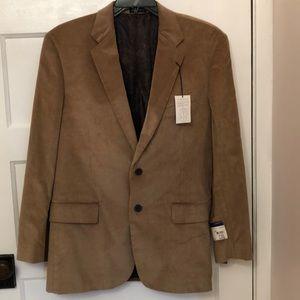 Stafford Tan 42 Regular Corduroy Sport Coat